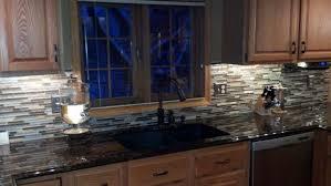 blue glass and stone kitchen backsplash tile tags kitchen glass