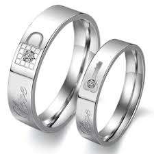steel promise rings images Fate love jewelry 2pcs stainless steel promise rings jpg