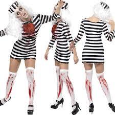 Halloween Inmate Costume Zombie Ladies Costume Tights Halloween Fancy Dress