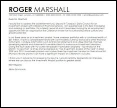 investment management cover letter president finance cover letter