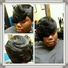 black hair 27 piece with sidebob quick weave 27 piece with layered side styles by cola dope