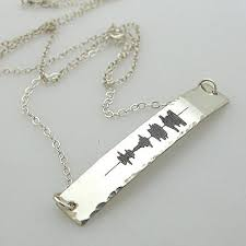 unique mothers jewelry unique sound wave necklace new gift idea sound wave engraved