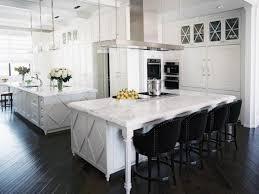 kitchen kitchen island with seating with black wooden kitchen