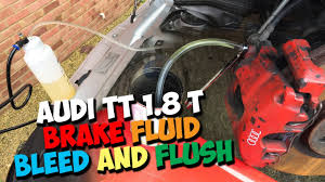 audi tt mk1 brake fluid flush and bleed youtube