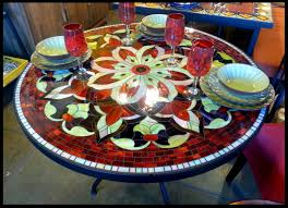 36 Patio Table Tile And Glass Mosaic Tables
