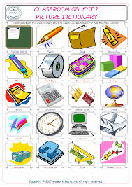 classroom object free esl efl worksheets made by teachers for