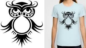 how i draw a cute owl tribal tattoo design style youtube