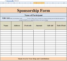 free sponsorship form template word excel u0026 pdf samples daily