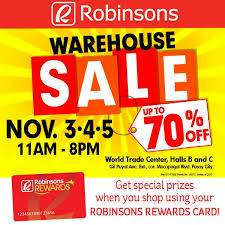 manila shopper robinsons group warehouse sale nov 2017
