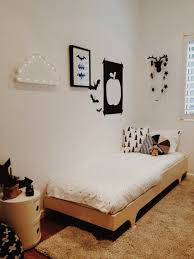Kid Room Rug Creative Interior Wall Decorating Design Plus Wooden Bed Frame