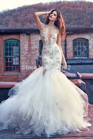 bling wedding dresses gorgeous mermaid wedding gowns beaded sparkling high neck