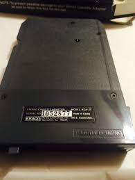 kraco stereo cassette adaptor for 8 track tape players model kca 7