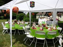 luau table centerpieces triyae hawaiian backyard party various design inspiration
