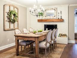 Dining Room Wall Decorating Ideas Dining Room Design Brick Fireplace Dining Room Fixer