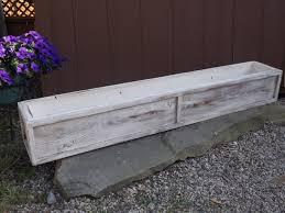 Cheap Planter Boxes by Wood Planter Box Outdoor Planter Distressed Cream Cedar Window Box