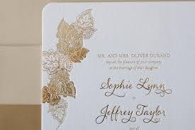 Gold Foil Wedding Invitations Bella Figura Gold Foil Letterpress Wedding Invitation Elizabeth