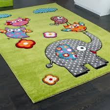 tappeti in gomma per bambini tappeto per bambini con elefante gufi fiori amici animali verde