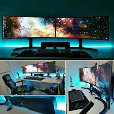 Pc Desk Setup Gaming Computer Desk Setup Best Ideas About Gaming Setup