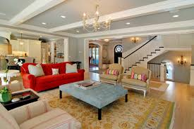Red Sofa Living Room Ideas Couches That Pop In The Most Traditional Spaces