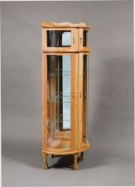 Corner Curio Cabinet Kit Corner Bonnet Top Curio Cabinet From Dutchcrafters Amish Furniture