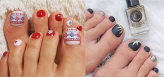 easy winter toe nail designs ideas 2016 modern