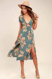 midi dress lovely dusty dress floral print dress midi dress 72 00
