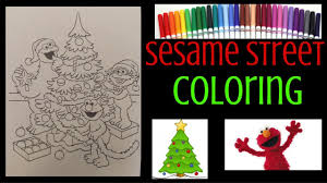 christmas sesame street coloring book elmo zoe cookie