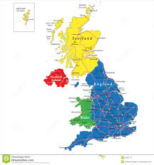 England Map Cities by England Scotland Wales And North Ireland Map Stock Photography