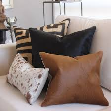 Metallic Cowhide Pillow Decor Cowhide Pillows And Black And White Cowhide Rug Also Animal