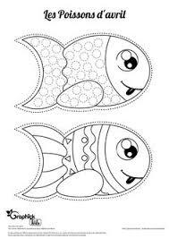 poisson d u0027avril à colorier et à décorer activités pour