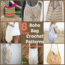 boho crochet 8 boho festival bags to crochet crochet