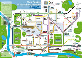 Plano Map Madrid Bus City Tour Tourist Map Madrid City Guide Madrid