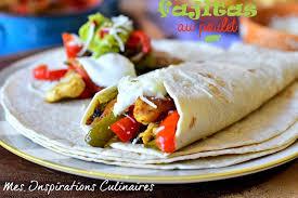 cuisine mexicaine fajitas recette de fajitas au poulet et poivrons le cuisine de samar