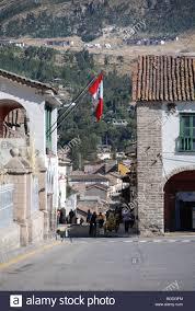 Quechua Flag Street 2 De Mayo Ayacucho Inca Settlement Quechua Settlement