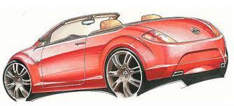future volkswagen new beetle design sketches