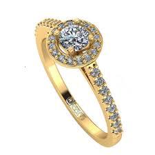 inele logodna aur alb inel de logodna halo aur alb