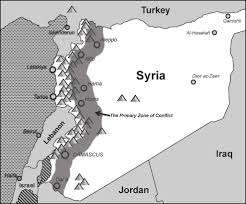 Map Of Syria Conflict by Map Syria U0027s Primary Zone Of Conflict