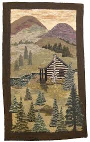 Hooked Rug Patterns Primitive Pictorial Basics How To Rug Hook Pine Trees Grass And Sky 2015