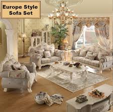 Family Room Furniture Sets Webetop European Living Room Sofa Combination Solid Wood Furniture