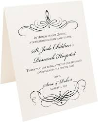 wedding gift donation to charity flourish monogram 04 wedding donation cards charity cards gift