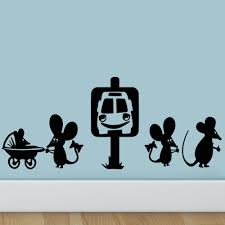 compare prices on taxi cartoon online shopping buy low price taxi new arrival mouse take the taxi wall sticker cartoon funny hole wall decals rat bedroom living