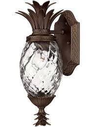 pineapple outdoor light fixtures plantation pineapple sconce in copper bronze porch light fixtures