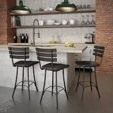 Metal And Wood Bar Stool Amisco Dock Swivel Metal And Wood Barstool Free Shipping Today