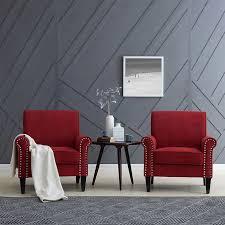 Red Club Chair Monroe Fabric Club Chair 2 Pack Red