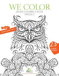 Color Coloring Book 23 Designs Flowers Mandalas