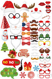 ohlily christmas photo booth props 52 pieces diy kit new year xmas