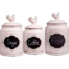 kitchen canisters white home essentials set of 3 chalkboard kitchen canisters white