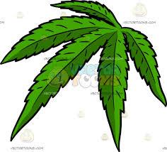 a bright green pot leaf cartoon clipart vector toons