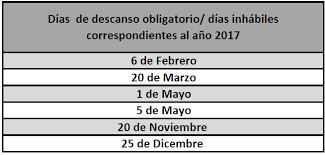 calendario imss 2016 das festivos calendario de días inhábiles del instituto de seguridad y servicios