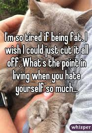 I M So Tired Meme - m so tired if being fat i wish i could just cut it all off what s